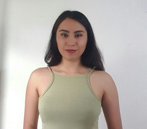 """Nancy Fonseca, estudiante de Periodismo del CUCiénega y colaboradora en el programa """"Franca controversia"""""""