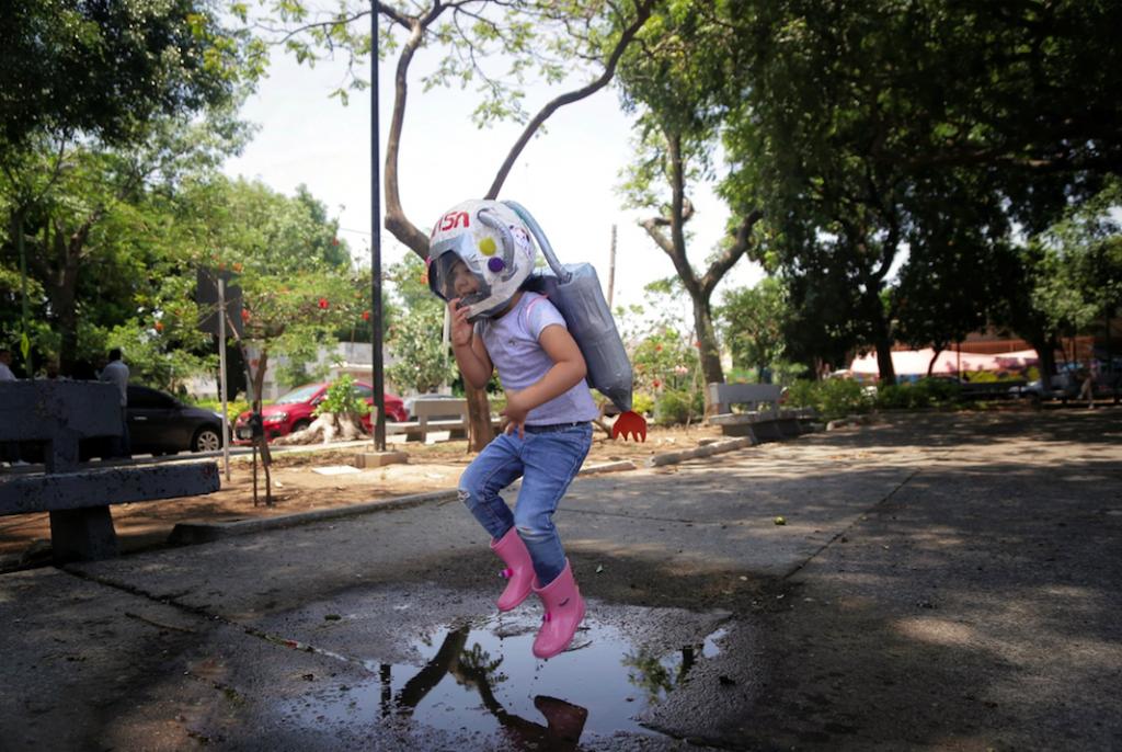 Sanduri, la astronauta. Fotografía: Alejandra Leyva