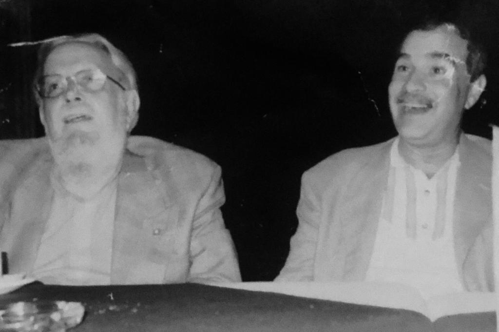 Hugo Gutiérrez Vega y Jorge Souza. Fotografía: Cortesía de Jorge Souza