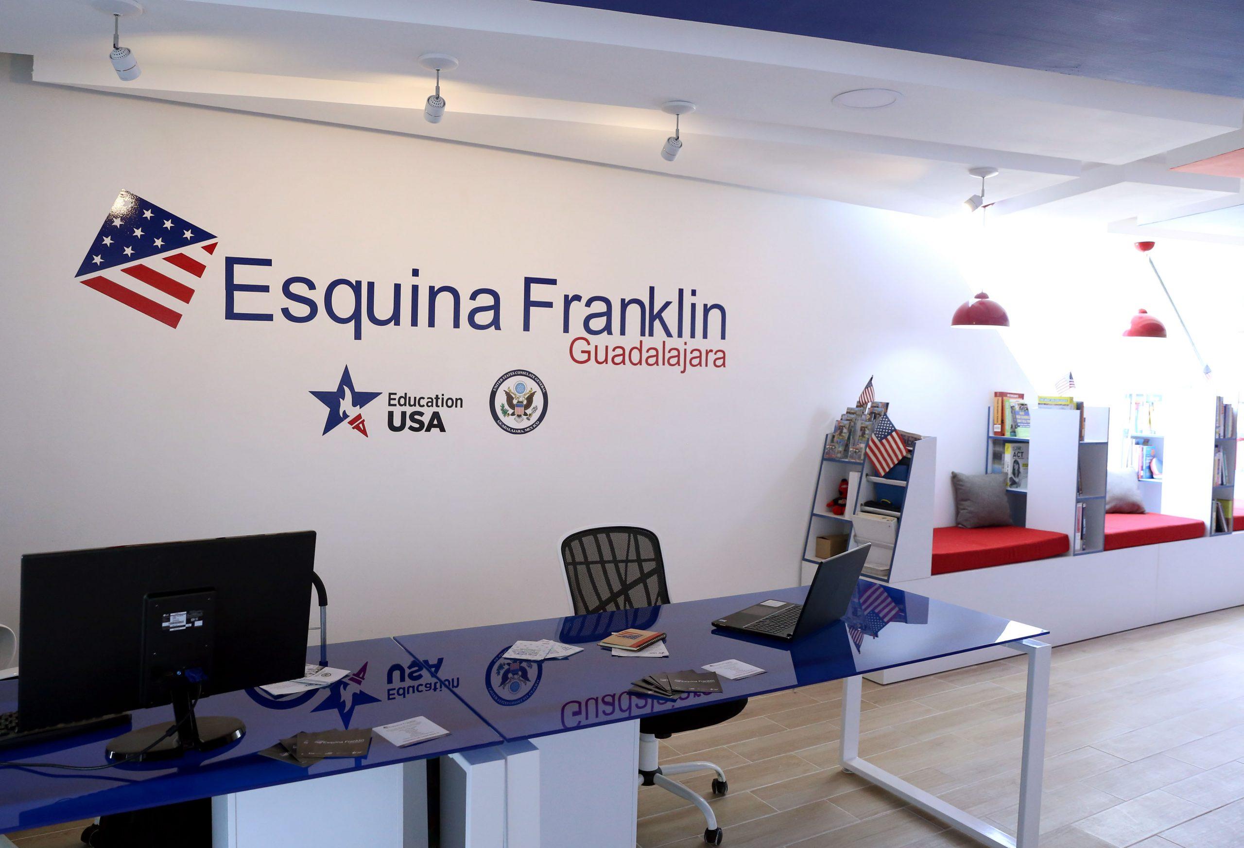 """Esquina Franklin, en el quinto piso de la Biblioteca Pública del Estado de Jalisco """"Juan José Arreola"""". Fotografía: Adriana González"""