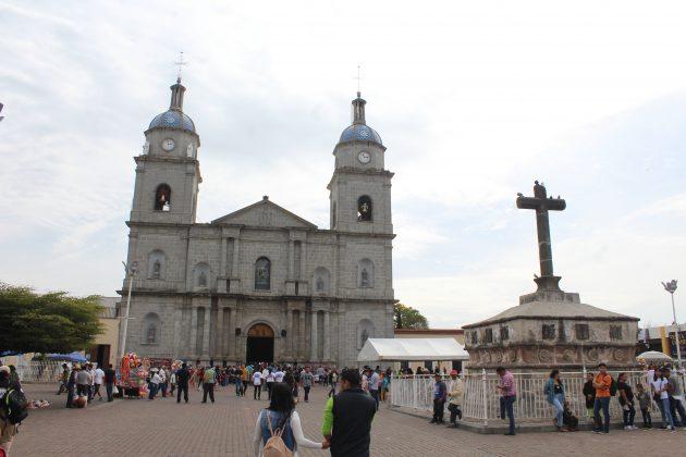 Atrio del Templo de San Juan Bautista, en Tuxpan. Fotografía: Iván Serrano Jauregui