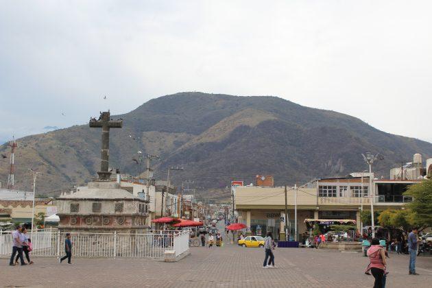 Cerro del Cihualpilli, desde el atrio del templo de Tuxpan. Fotografía: Iván Serrano Jauregui