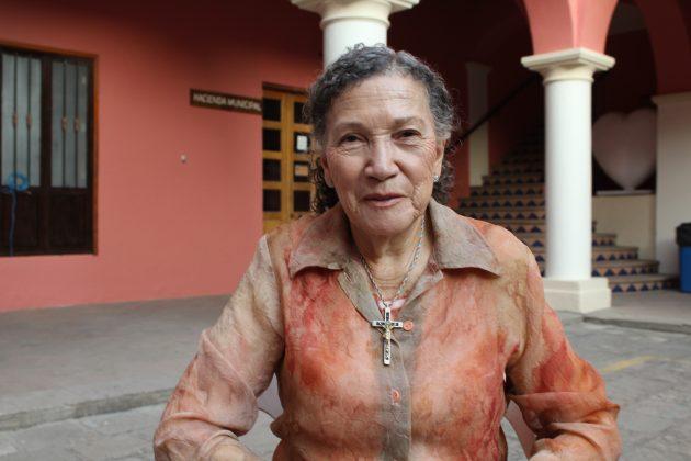 María Evelia Sánchez, habitante de Tecolotlán. Fotografía: Iván Serrano Jauregui