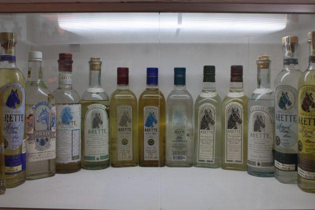 Algunas marcas conmemorativas en el Museo Nacional del Tequila. Fotografía: Iván Serrano Jauregui