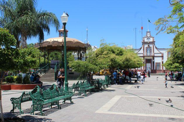 Plaza principal de Jocotepec. Fotografía: Iván Serrano Jauregui