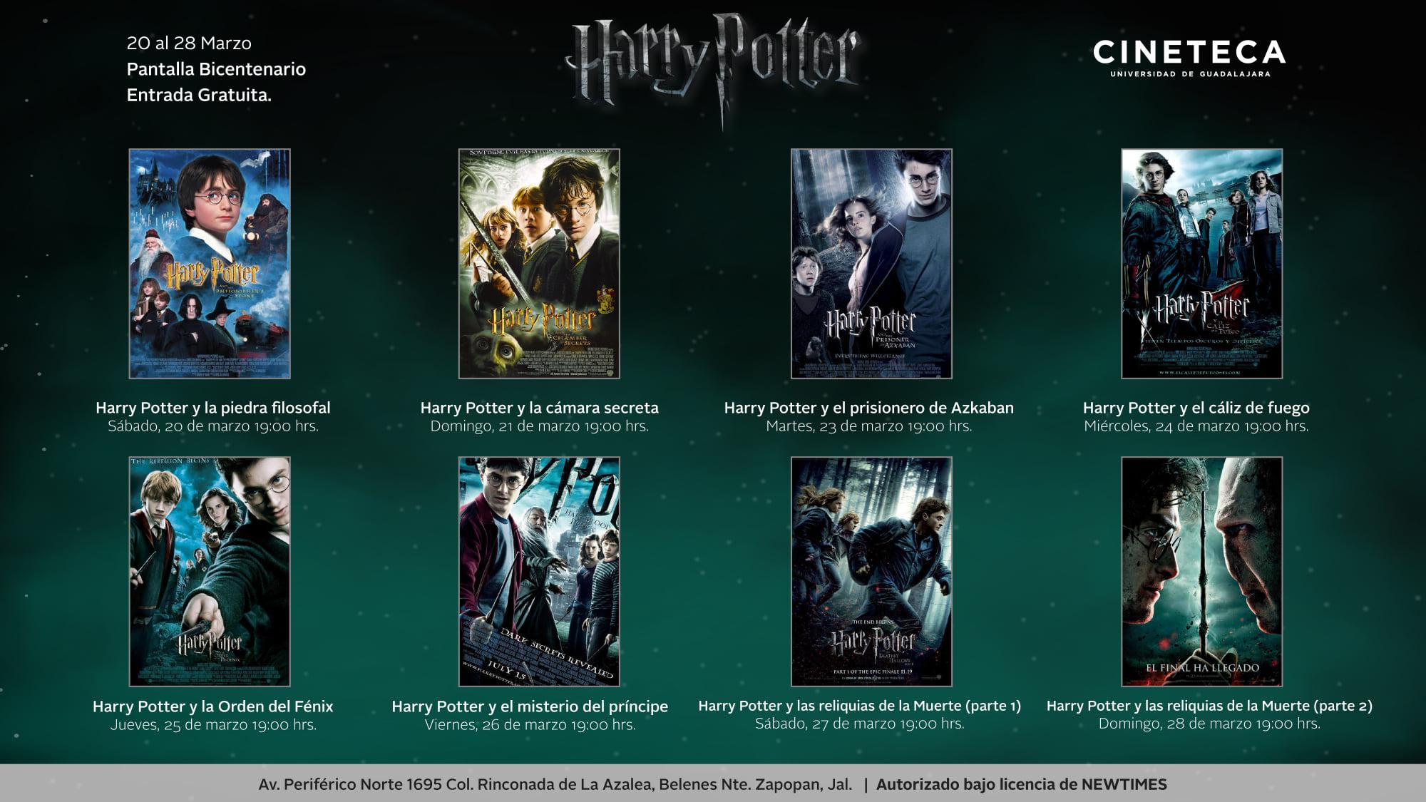 Harry Potter en Cineteca FICG