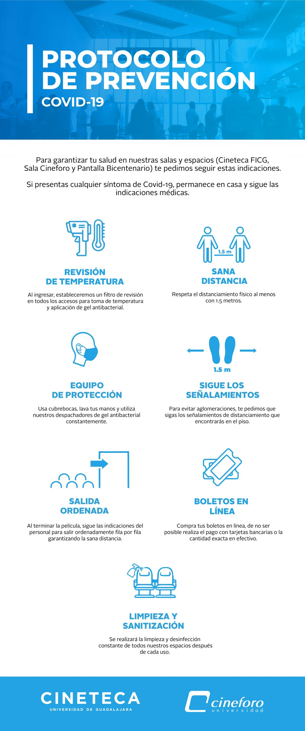 Medidas sanitarias Cineteca FICG